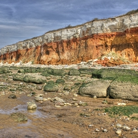 Buy canvas prints of Cliffs at Hunstanton by David Birchall