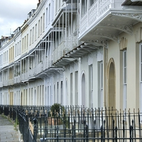 Buy canvas prints of Royal York Crescent in Bristol by David Birchall