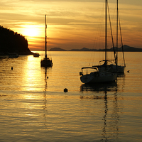 Buy canvas prints of Sunset In Cavtat by David Birchall