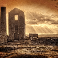 Buy canvas prints of  Haunted Britain - Magpie Mine by David Birchall