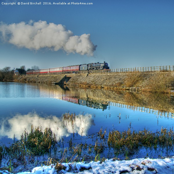 Winter Reflections at Butterley Acrylic by David Birchall