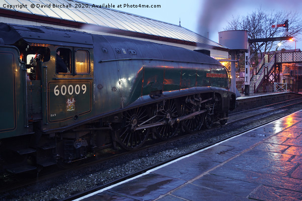 A4 60009 Union Of South Africa at dusk. Canvas print by David Birchall