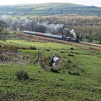 Buy canvas prints of Steam in the hills. by David Birchall