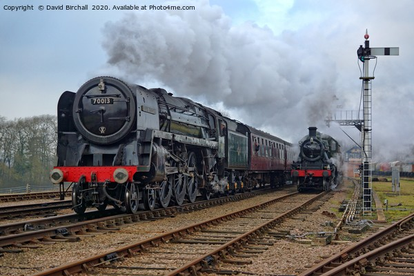 Steam locomotive 70013 Oliver Cromwell Acrylic by David Birchall