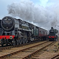 Buy canvas prints of Steam locomotive 70013 Oliver Cromwell by David Birchall