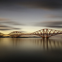 Buy canvas prints of The Bridge at Sunset by bryan hynd