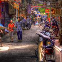Buy canvas prints of The Street. by Perry Johnson