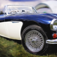 Buy canvas prints of Austin Healey by Perry Johnson