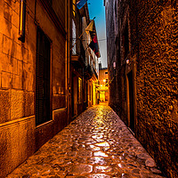 Buy canvas prints of Pollenca street by Perry Johnson