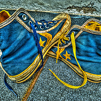 Buy canvas prints of My old pair of Converse by Perry Johnson