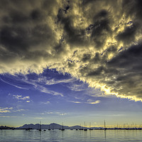 Buy canvas prints of The Bay of Pollensa by Perry Johnson
