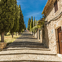 Buy canvas prints of The Calvari Steps by Perry Johnson