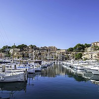 Buy canvas prints of Small boats, Port de Soller, Mallorca by Perry Johnson