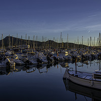 Buy canvas prints of Boats at sunrise by Perry Johnson