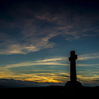Buy canvas prints of Stone cross of Dartmoor by Steven Dunn-Sims