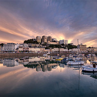 Buy canvas prints of Torquay Sunset Explosion by Rosie Spooner