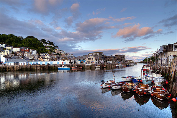 Early evening at Looe Canvas print by Rosie Spooner