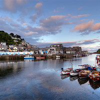 Buy canvas prints of Early evening at Looe by Rosie Spooner