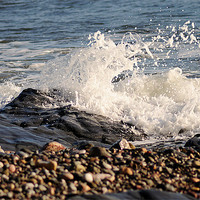 Buy canvas prints of Wave on the Shoreline by Rosie Spooner