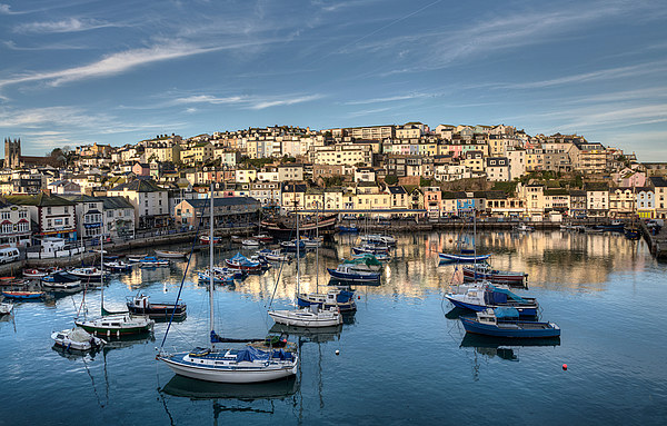 Brixham Harbour early morning light Canvas print by Rosie Spooner