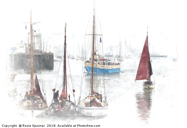 Heritage Sailing Regatta at Brixham in South Devon Canvas print by Rosie Spooner