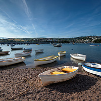Buy canvas prints of Early evening on the River Teign at Shaldon by Rosie Spooner