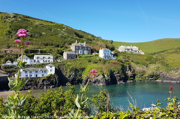 Port Isaac in Cornwall  viewed from the coast path Canvas print by Rosie Spooner