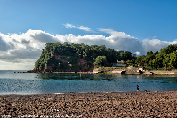The Ness Headland at Shaldon from Teignmouth Canvas Print by Rosie Spooner