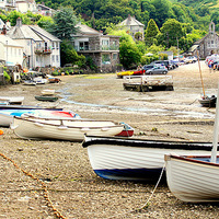 Buy canvas prints of  Noss Mayo South Devon by Peter Hunt