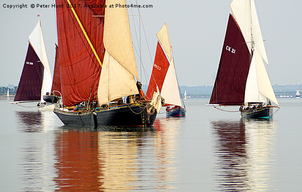 Drifting on the Blackwater Canvas print by Peter Hunt