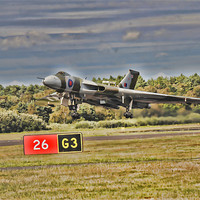 Buy canvas prints of Vulcan Bomber by dave new