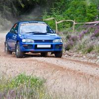 Buy canvas prints of subaru impreza rally car by Lloyd Fudge