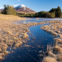 Buy canvas prints of Loch Moraig & Carn Liath by David Brown