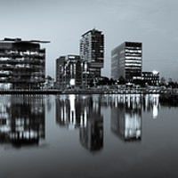 Buy canvas prints of Media City UK by Steve Purcell