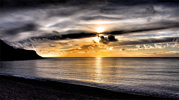 Dorset Sunset Canvas print by Mike Jennings
