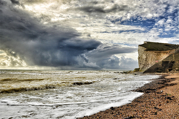 Storm at sea Canvas print by Mike Jennings