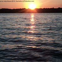 Buy canvas prints of Sunset on the Lake by Pics by Jody Adams