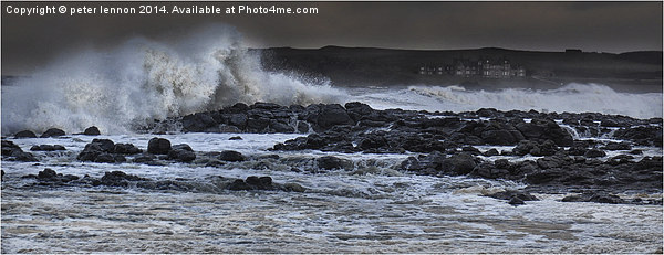 Raging Runkerry Canvas print by peter lennon