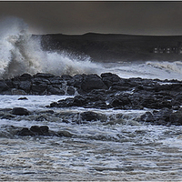 Buy canvas prints of  Raging Runkerry by peter lennon
