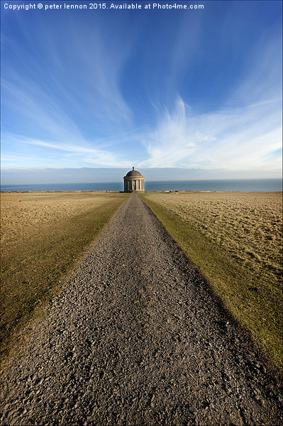 All Roads Lead to Mussenden Canvas print by peter lennon