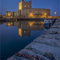 Buy canvas prints of Carrickfergus Castle by peter lennon