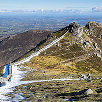 Buy canvas prints of Slieve Bearnagh  by peter lennon