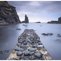 Buy canvas prints of Portcoon Pier by peter lennon