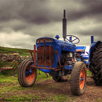 Buy canvas prints of Fordson Super Dexta Tractor by Anne Macdonald