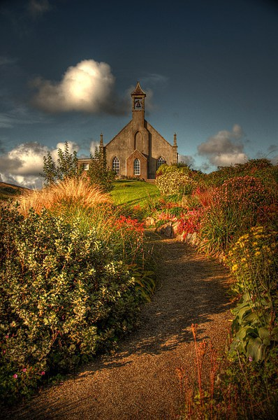 Weisdale Church, Shetland Canvas print by Anne Macdonald