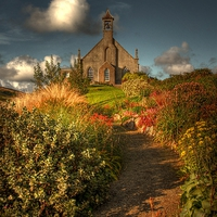Buy canvas prints of Weisdale Church, Shetland by Anne Macdonald
