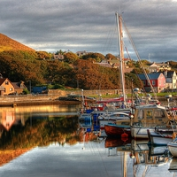 Buy canvas prints of View From Port Arthur Marina by Anne Macdonald