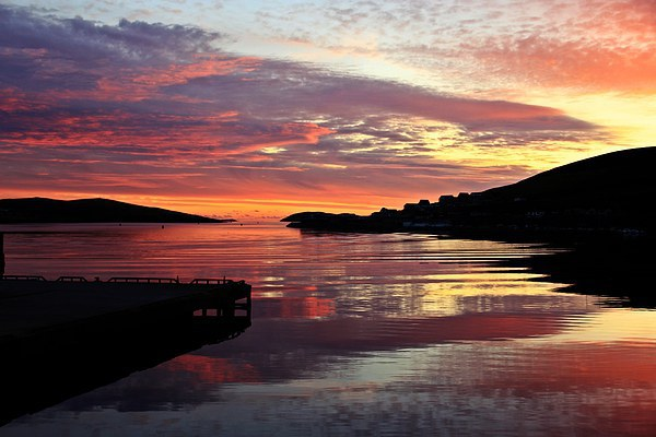 Sunset Over Port Arthur Scalloway Canvas print by Anne Macdonald