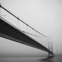 Buy canvas prints of   Humber Bridge by Dave Newport