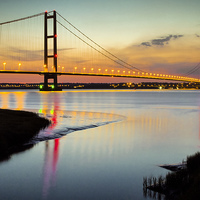 Buy canvas prints of Humber Bridge Sunset by Dave